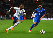 27th March 2018, Wembley Stadium, London, England; International Football Friendly, England versus Italy; Ashley Young of England runs past Mattia De Sciglio of Italy