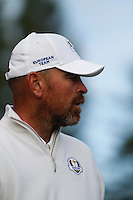 Thomas Bjorn (EUR) on the 3rd during the Saturday Fourball Matches of the Ryder Cup at Gleneagles Golf Club on Saturday 27th September 2014.<br /> Picture:  Thos Caffrey / www.golffile.ie