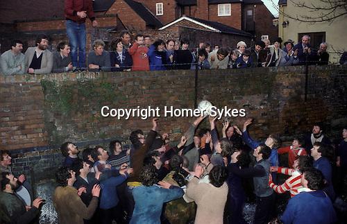 Shrove Tuesday traditional Football game. Ashbourne Derbyshire England