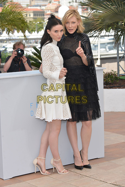 Rooney Mara &amp; Cate Blanchett attend the 'Carol' Photocall during the 68th annual Cannes Film Festival on May 17, 2015 in Cannes, France.<br /> CAP/PL<br /> &copy;Phil Loftus/Capital Pictures