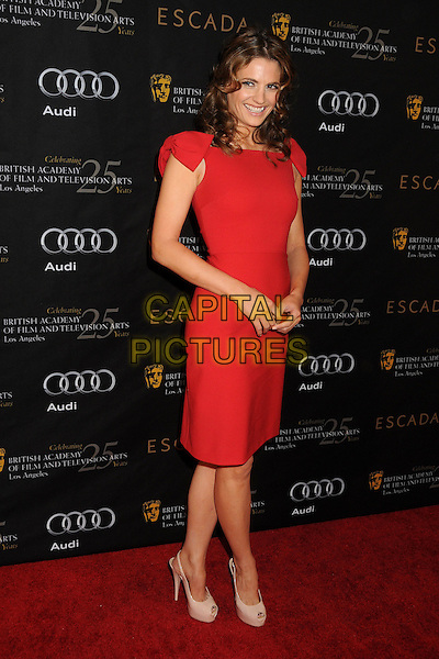 Stana Katic.18th Annual BAFTA Los Angeles Awards Season Tea Party held at the Four Seasons Hotel, Beverly Hills, California, USA, 14th January 2012..full length red  dress .CAP/ADM/BP.©Byron Purvis/AdMedia/Capital Pictures.