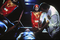 Flash Gordon (1980) <br /> Ornella Muti &amp; Sam Jones<br /> *Filmstill - Editorial Use Only*<br /> CAP/KFS<br /> Image supplied by Capital Pictures