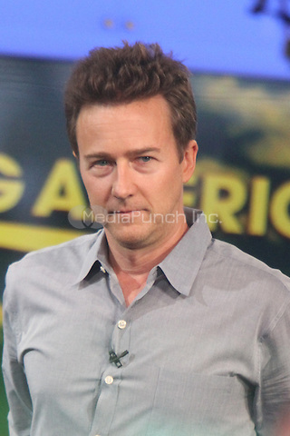 NEW YORK CITY, NY - JULY 31, 2012: Edward Norton at Good Morning America in New York City. Credit: RW/MediaPunch Inc.