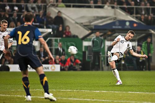29 03 2011  Mueller Moenchengladbach Lukas Podolski Germany Germany Australia Football men ger DFB National team international match Moenchengladbach