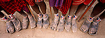Feet of Samburu tribesmen, Kenya