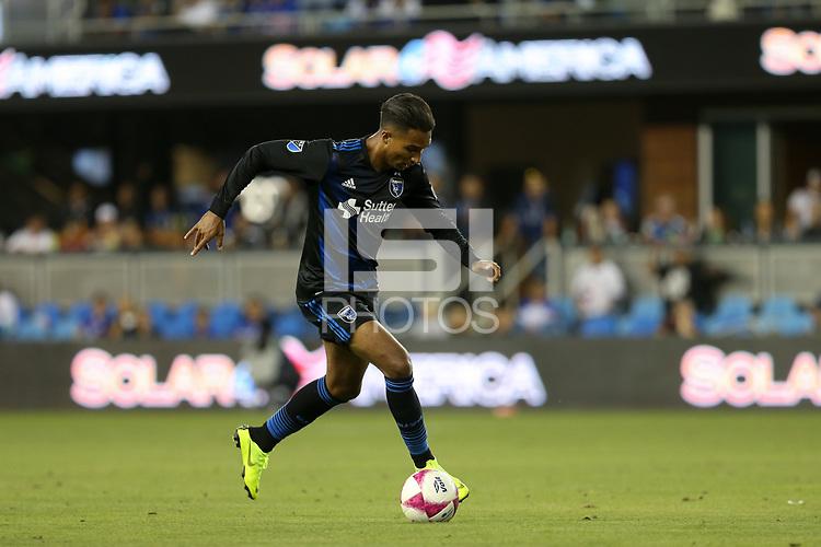 San Jose, CA - Saturday October 13, 2018: Danny Hoesen during a friendly match between the San Jose Earthquakes and Cruz Azul at Avaya Stadium.