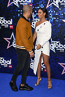 Marvin and Rochelle Humes<br /> arriving for the Global Awards 2019 at the Hammersmith Apollo, London<br /> <br /> ©Ash Knotek  D3486  07/03/2019