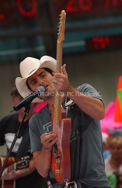 """WWW.ACEPIXS.COM . . . . . ....NEW YORK, JUNE 2, 2006....Brad Paisley performs on NBC's """"Today Show Summer Concert Series"""" ....Please byline: KRISTIN CALLAHAN - ACEPIXS.COM.. . . . . . ..Ace Pictures, Inc:  ..(212) 243-8787 or (646) 679 0430..e-mail: picturedesk@acepixs.com..web: http://www.acepixs.com"""