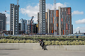 Construction of high-rise residential apartment blocks in Wembley London