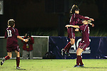 9 November 2007: Florida State's Mami Yamaguchi (center) leaps into the arms of a teammate to celebrate her first half goal. Florida State University defeated Wake Forest University 5-2  at the Disney Wide World of Sports complex in Orlando, FL in an Atlantic Coast Conference tournament semifinal match.