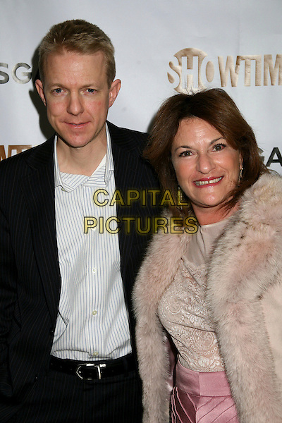 KEVIN BEGGS & SANDRA STERN (Lionsgate Producers).Showtime and Lionsgate Host Pre-Golden Globes Celebration at the Sunset Tower Hotel, West Hollywood, California, USA..January 14th, 2007.half length black jacket pink fur .CAP/ADM/BP.©Byron Purvis/AdMedia/Capital Pictures