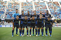 San Jose, CA - Wednesday July 25, 2018: San Jose Earthquakes Starting Eleven during a Major League Soccer (MLS) match between the San Jose Earthquakes and the Seattle Sounders FC at Avaya Stadium.