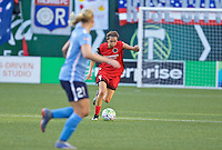 Portland, OR - Saturday July 02, 2016: Emily Menges during a regular season National Women's Soccer League (NWSL) match between the Portland Thorns FC and Sky Blue FC at Providence Park.