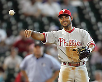 Phillies 3B Pedro Feliz on Sunday May 25th at Minute Maid Park in Houston, Texas. Photo by Andrew Woolley / Four Seam Images.