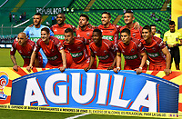 PALMIRA - COLOMBIA, 06-10-2018: Los jugadores de Patriotas F. C., posan para una foto, antes de partido de la fecha 13 entre Deportivo Cali y Patriotas F. C., por la Liga Aguila II 2018, jugado en el estadio Deportivo Cali (Palmaseca) de la ciudad de Cali. / The players of Patriotas F. C., pose for a photo, prior a match of the date 13th between Deportivo Cali and Patriotas F. C., for the Liga Aguila II 2018 at the Deportivo Cali (Palmaseca) stadium in Cali city. Photo: VizzorImage  / Nelson Ríos / Cont.