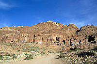 Royal Tombs carved into the cliffs at Petra, Jordan.