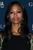 LOS ANGELES, CA - NOVEMBER 02: Zoe Saldana at LACMA 2013 Art + Film Gala held at LACMA on November 2, 2013 in Los Angeles, California. (Photo by Xavier Collin/Celebrity Monitor)