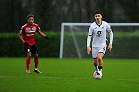 Jack Evans of Swansea City u23s' in action during the Premier League 2 Division Two match between Swansea City u23s and Middlesbrough u23s at Swansea City AFC Training Academy  in Swansea, Wales, UK. Monday 13 January 2020.