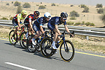 The breakaway group in action during Stage 3 The Silicon Oasis Stage of the Dubai Tour 2018 the Dubai Tour&rsquo;s 5th edition, running 180km from Skydive Dubai to Fujairah, Dubai, United Arab Emirates. 7th February 2018.<br /> Picture: LaPresse/Fabio Ferrari | Cyclefile<br /> <br /> <br /> All photos usage must carry mandatory copyright credit (&copy; Cyclefile | LaPresse/Fabio Ferrari)