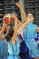 Action from national under-15 college basketball championship at the ASB Sports Centre, Kilbirnie, Wellington, New Zealand on Thursday, 25 July 2013. Photo: Dave Lintott / lintottphoto.co.nz
