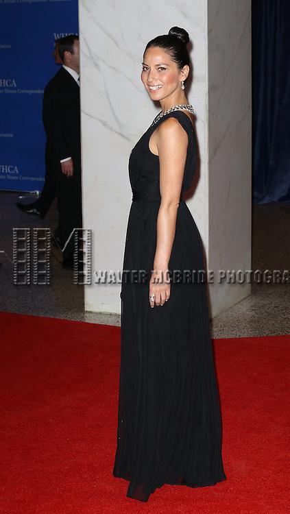 Olivia Munn  attending the  2013 White House Correspondents' Association Dinner at the Washington Hilton Hotel in Washington, DC on 4/27/2013