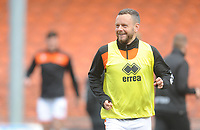 Blackpool's Jay Spearing during the pre-match warm-up <br /> <br /> Photographer Kevin Barnes/CameraSport<br /> <br /> The EFL Sky Bet League One - Blackpool v Plymouth Argyle - Saturday 30th March 2019 - Bloomfield Road - Blackpool<br /> <br /> World Copyright © 2019 CameraSport. All rights reserved. 43 Linden Ave. Countesthorpe. Leicester. England. LE8 5PG - Tel: +44 (0) 116 277 4147 - admin@camerasport.com - www.camerasport.com