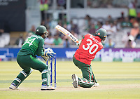 Mahmudullah (Bangladesh) lofts over mid wicket during Pakistan vs Bangladesh, ICC World Cup Cricket at Lord's Cricket Ground on 5th July 2019