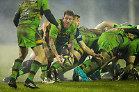 Northampton Saints' Teimana Harrison in action during todays match<br /> <br /> Photographer Bob Bradford/CameraSport<br /> <br /> Anglo-Welsh Cup Semi Final - Bath Rugby v  Northampton Saints - Friday 9th March 2018 - The Recreation Ground - Bath<br /> <br /> World Copyright &copy; 2018 CameraSport. All rights reserved. 43 Linden Ave. Countesthorpe. Leicester. England. LE8 5PG - Tel: +44 (0) 116 277 4147 - admin@camerasport.com - www.camerasport.com