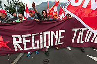 Switzerland 2018 Bellinzona Workers Protest Unia