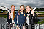 Clara Moran, Ciara Lynch and Laura Divane enjoying THE 'Friends Of Kerry General Hospital Benefit Night at the Kingdom Greyhound stadium on Friday