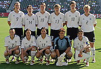 Germany team, Germany 2-1 over Sweden at the  WWC 2003 Championships.