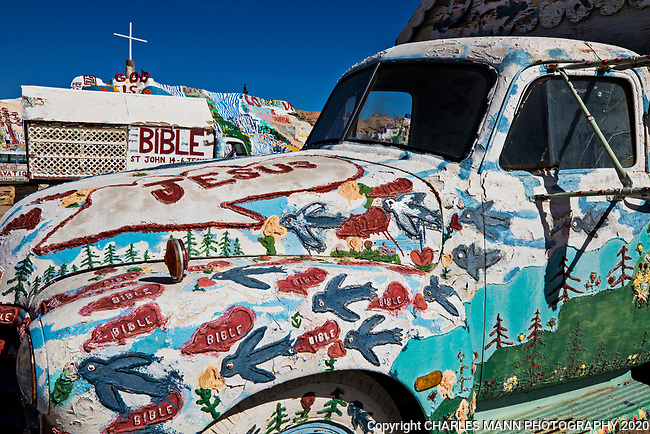 Salvation Mountain is an eccentric art project created by the artist Leonard Knight and  located near the small village of Niland, California, close to the Salton Sea and north of the city of El Centro.