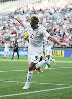 Stuart Holden celebrates his goal. USA defeated Grenada 4-0 during the First Round of the 2009 CONCACAF Gold Cup at Qwest Field in Seattle, Washington on July 4, 2009.