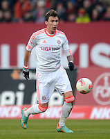 FUSSBALL   1. BUNDESLIGA  SAISON 2012/2013   12. Spieltag 1. FC Nuernberg - FC Bayern Muenchen      17.11.2012 Tomas Pekhart (1 FC Nuernberg)