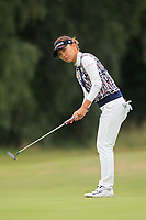 Teresa Lu (TPE) on the 1st green during Round 3 of the Ricoh Women's British Open at Royal Lytham &amp; St. Annes on Saturday 4th August 2018.<br /> Picture:  Thos Caffrey / Golffile<br /> <br /> All photo usage must carry mandatory copyright credit (&copy; Golffile | Thos Caffrey)
