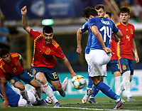 Football: Uefa European under 21 Championship 2019, Italy - Spain Renato Dall'Ara stadium Bologna Italy on June16, 2019.<br /> Italy's Federico Chiesa (r) scores his second goal in theUefa European under 21 Championship 2019 football match between Italy and Spain at Renato Dall'Ara stadium in Bologna, Italy on June16, 2019.<br /> UPDATE IMAGES PRESS/Isabella Bonotto
