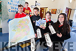 Transition Year students from Mean Scoil an Leith Triuigh represented Kerry at the All-Ireland Student Enterprise Awards in Dublin yesterday (Wednesday). Pictured were: Jack Walsh, Tomas Butler, Ross Spillane, Jasmin Griffin and Shannon Maunsell-Cronin.