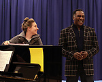 """Jessie Mueller and Norm Lewis during """"The Music Man"""" Media Day Rehearsal at the New 42nd Street Studios on January 24, 2019 in New York City."""