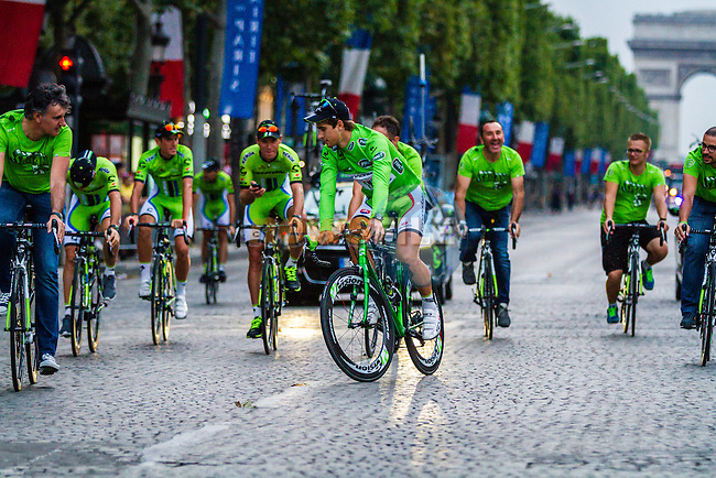 Peter Sagan (ITA) of Cannondale at rider parade on the Champs-Élysées, Tour de France, Stage 21: Évry > Paris Champs-Élysées, UCI WorldTour, 2.UWT, Paris Champs-Élysées, France, 27th July 2014, Photo by Thomas van Bracht