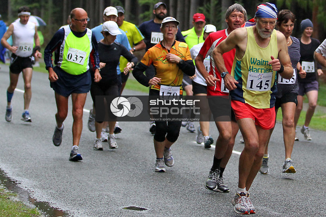 Start of run section of Half Marathon &amp; Road Relay, Rabbit Island, SI Masters Games, 22 October 2011, Nelson, New Zealand<br /> Photo: Marc Palmano/shuttersport.co.nz