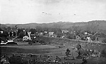 A bird's eye view of the Waterville section of Waterbury, circa 1886