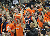 Virginia fans cheer during the game against NC State Saturday in Charlottesville, VA. Virginia defeated NC State 58-55.