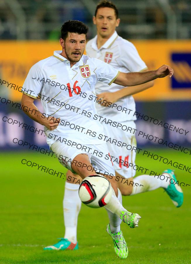 Fudbal<br /> Prijateljski mec-Friendly match<br /> Srbija v Grcka<br /> Milos Jojic and Nemanja Matic (BEHIND)<br /> Chania, 17.11.2014.<br /> foto: Srdjan Stevanovic/Starsportphoto &copy;
