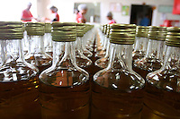 Salinas_MG, Brasil...Unidade de engarrafamento de cachaca na cidade de Salinas, regiao norte de Minas Gerais...The cachaca bottling  in Salinas, the northern region of Minas Gerais...Foto: LEO DRUMOND / NITRO