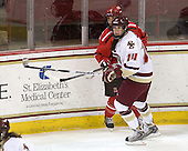 Tara Akstull (St. Lawrence - 7), Katelyn Kurth (BC - 14) - The visiting St. Lawrence University Saints defeated the Boston College Eagles 4-0 on Friday, January 15, 2010, at Conte Forum in Chestnut Hill, Massachusetts.