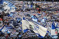FUSSBALL   1. BUNDESLIGA   SAISON 2012/2013    27. SPIELTAG FC Schalke 04 - TSG 1899 Hoffenheim                       30.03.2013 Fans vom FC Schalke 04