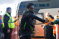 Nathan Dyer of Swansea City arrives prior to the game during the Sky Bet Championship match between Swansea City and Cardiff City at the Liberty Stadium, Swansea, Wales, UK. Sunday 27 October 2019
