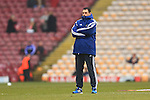 Manager of Sunderland, Gus Poyet makes an early appearance to assess the pitch - Bradford City vs. Sunderland - FA Cup Fifth Round - Valley Parade - Bradford - 15/02/2015 Pic Philip Oldham/Sportimage