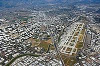 aerial photograph Minetta San Jose International airport, Santa Clara county, California
