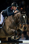 Joe Clee of United Kingdom rides Vedet de Muze E T in action at the Longines Grand Prix during the Longines Hong Kong Masters 2015 at the AsiaWorld Expo on 15 February 2015 in Hong Kong, China. Photo by Juan Flor / Power Sport Images